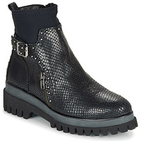 Shoes Women Mid boots Regard RONALD V2 SERPENTE PRETO Black