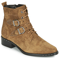 Shoes Women Mid boots Philippe Morvan SWAG V4 CRTE VEL Camel