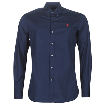 Clothing Men long-sleeved shirts U.S Polo Assn. ZED SHIRT BD Marine
