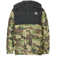 Clothing Men Duffel coats DC Shoes STRAFFEN Black / Camo