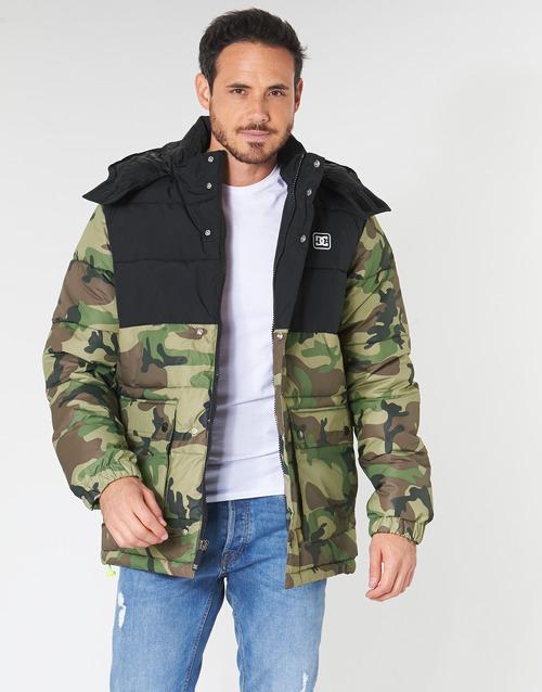 Clothing Men Duffel coats DC Shoes STRAFFEN Black / Camo