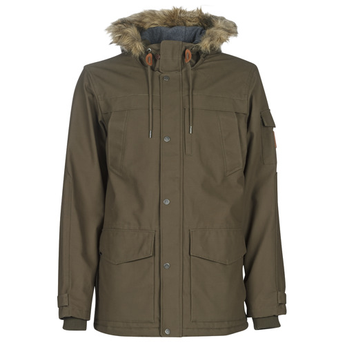 Clothing Men Parkas Quiksilver STORM DROP 5K Brown