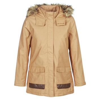 Clothing Women Parkas Roxy TRAVELLING WEST Brown