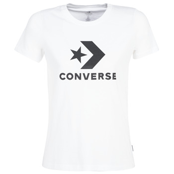 Clothing Women Short-sleeved t-shirts Converse STAR CHEVRON White