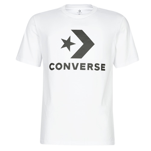 Clothing Men short-sleeved t-shirts Converse STAR CHEVRON White