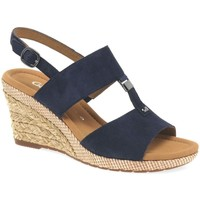 Shoes Women Sandals Gabor Keira Womens Wedge Heel Sandals blue
