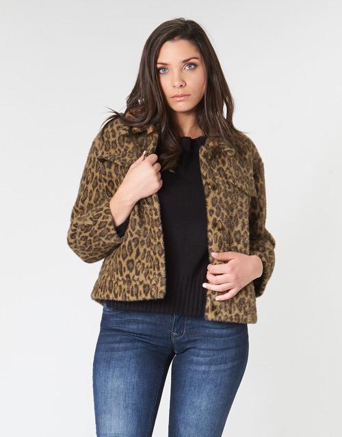 Clothing Women Jackets See U Soon 9262153 Leopard