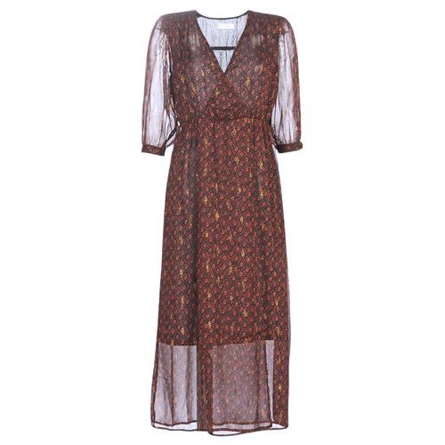 Clothing Women Long Dresses See U Soon 9221839 Black / Red