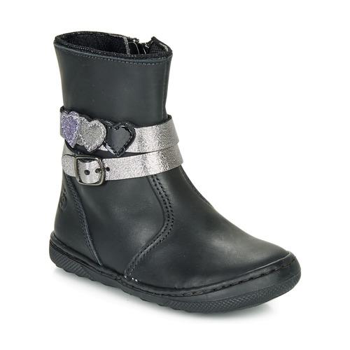 Shoes Girl Mid boots Citrouille et Compagnie LOMINE Black