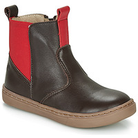 Shoes Boy Mid boots Citrouille et Compagnie JRYNE Brown / Red