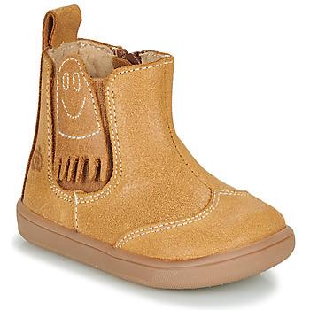 Shoes Boy Mid boots Citrouille et Compagnie LOKO Camel