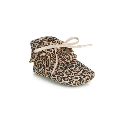 Shoes Girl Slippers Citrouille et Compagnie LILIFI Camel / Leopard
