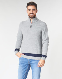 Clothing Men Jumpers Oxbow L2PALENY Grey / Marine