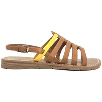 Shoes Women Sandals Chattawak sandales 7-SHIRLEY Camel/Jaune Brown