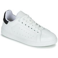 Shoes Women Low top trainers Yurban SATURNA White / Black