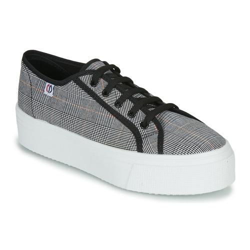 Shoes Women Low top trainers Yurban SUPERTELA Black / White