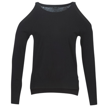 Clothing Women jumpers Guess CUTOUT Black
