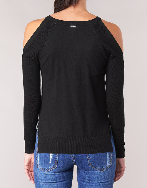 Guess CUTOUT Black - Free delivery  ! - Clothing jumpers Women   42.59