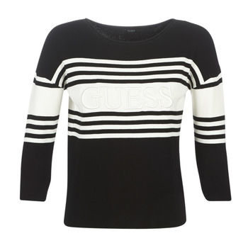 Clothing Women jumpers Guess VIOLANTE Black / White