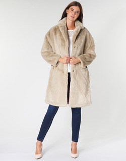 Clothing Women Coats Guess SHELLY Beige