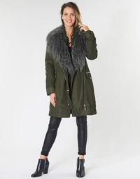 Clothing Women Parkas Guess NEREA Kaki