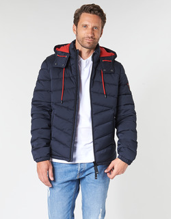 Clothing Men Duffel coats Guess PUFFA HOODED Marine