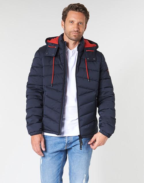 Clothing Men Duffel coats Guess PUFFA HOODED Marine