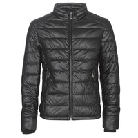 Clothing Men Leather jackets / Imitation leather Guess STRETCH PU QUILTED Black