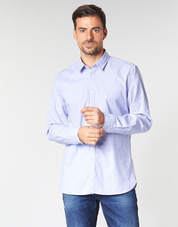 Clothing Men long-sleeved shirts Guess COLLINS Blue