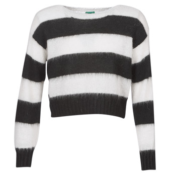 Clothing Women jumpers Benetton SATILEM White / Black