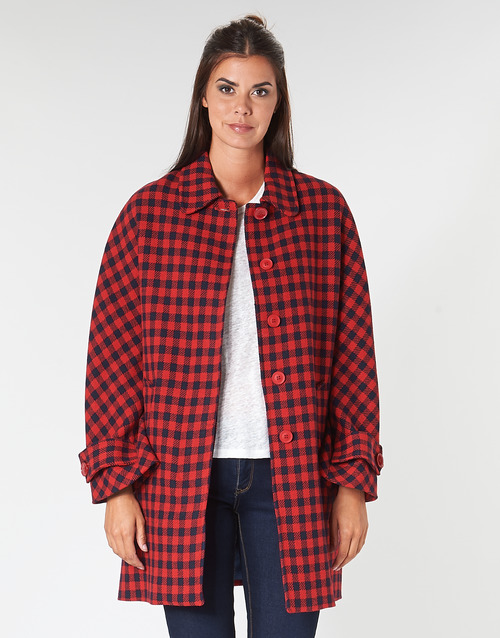 Clothing Women coats Benetton SIDUDEL Brown / Multicoloured