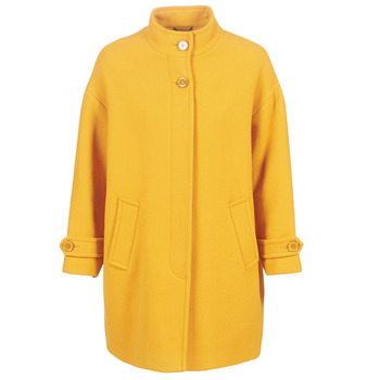 Clothing Women coats Benetton STORI Yellow