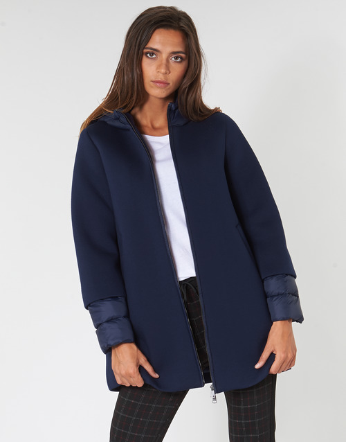 Clothing Women coats Benetton MAIREL Marine