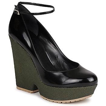 Shoes Women Heels Sonia Rykiel LOCK Black / Green