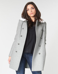 Clothing Women Coats Naf Naf AROSA M1 Grey