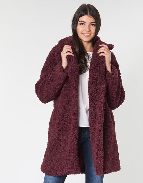 Clothing Women coats Naf Naf BIPROTEST Prune
