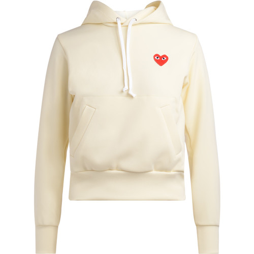 Clothing Women sweaters Comme Des Garcons Felpa avorio con cappuccio White