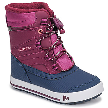 Shoes Girl Snow boots Merrell ML-Snow Bank 2.0 WTRPF Blue / Pink
