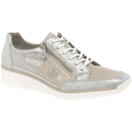 Shoes Women Low top trainers Rieker Cora Womens Casual Trainers Silver
