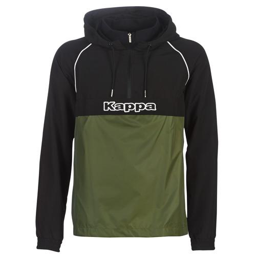 Clothing Men Macs Kappa RISANO Black / Kaki