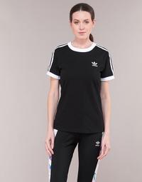 Clothing Women short-sleeved t-shirts adidas Originals 3 STR TEE Black