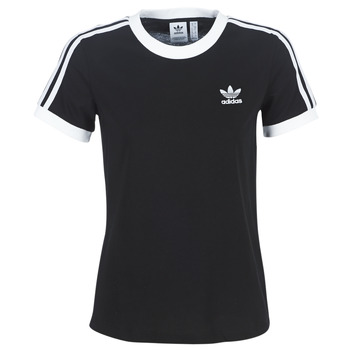 Clothing Women short-sleeved t-shirts adidas Originals 3 STR TEE Black