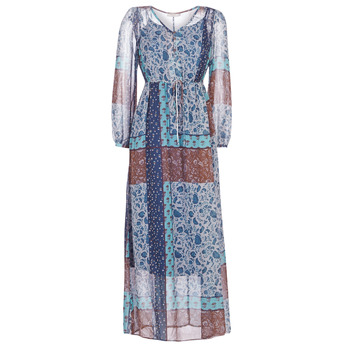 Clothing Women Long Dresses Cream SAMA Blue / Brown