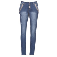 Clothing Women straight jeans Cream DICTE Blue