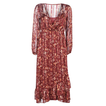 Clothing Women Long Dresses Cream NILA Red
