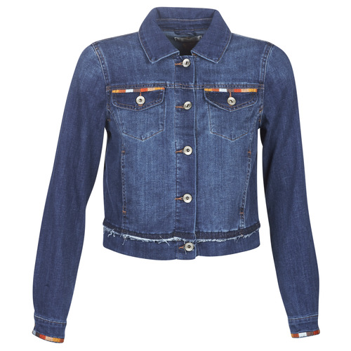 Clothing Women Denim jackets Cream DIWA Blue