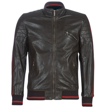 Clothing Men Leather jackets / Imitation leather Desigual ANTON Brown