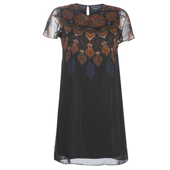 Clothing Women Short Dresses Desigual MEXICAN Black
