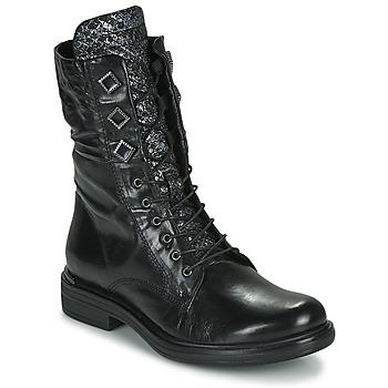 Shoes Women Mid boots Mjus CAFE METAL Black / Python