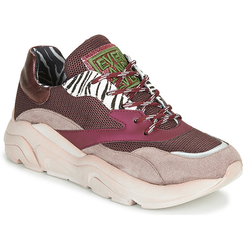 Shoes Women Low top trainers Meline JOLI Pink / Beige